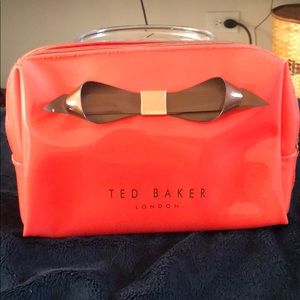 Ted Baker London coral large cosmetic bag
